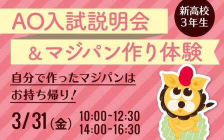 AO入試説明会&マジパン作り体験